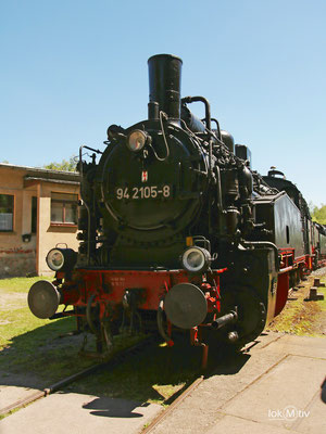 94.2105-8 in der Ausstellung zu den Schwarzenberger Eisenbahntagen 05/2017