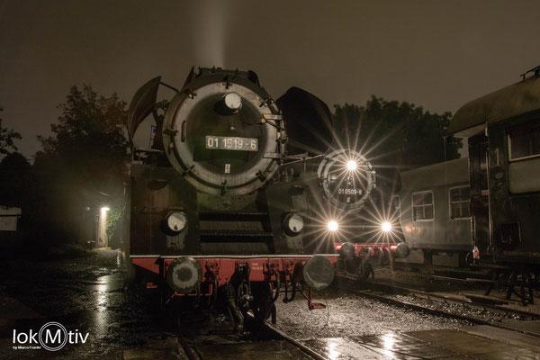 01 0509-8 und 01 1519-6 im Eisenbahnmuseum Leipzig (10/2019)