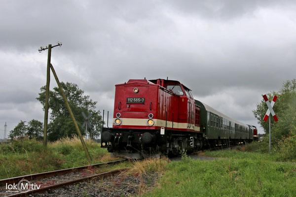 112 565-7 auf der Zellwaldbahn nach Nossen (06/2018)