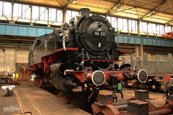 86 333 im Dampflokwerk Meiningen