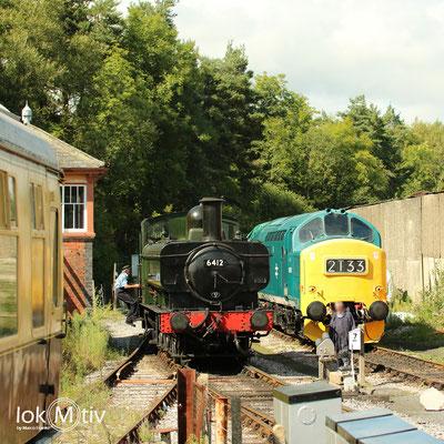 GWR 6412 bereit zur Zugumfahrung (08/2018)