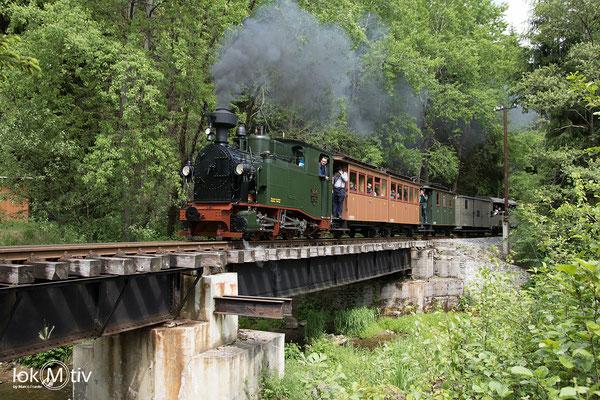 sächs. I K (No. 54) kurz vor der Einfahrt in Schlössel aus Richtung Steinbach kommend