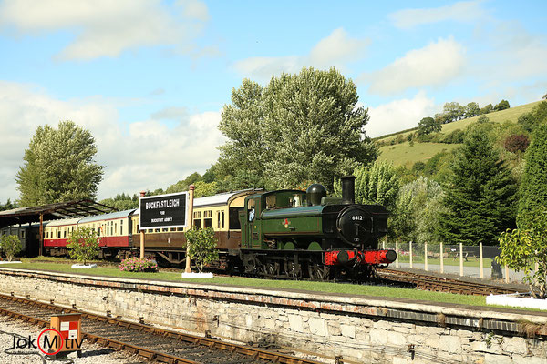 GWR 6412 im Bahnhof von Buckfastleigh (08/2018)