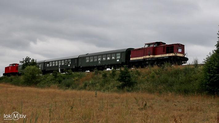 110 112-4 und 202 264-8 auf dem Weg nach Zigenhain (06/2018)