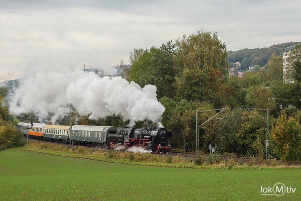 52 8154 umfährt die Kal May und Sachsenring-Stadt Hohenstein-Ernstthal