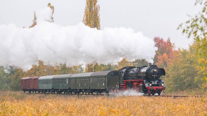 41 1144-9 bei Neuhof auf der Werrabahn 10/2018