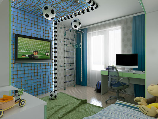 "Themenzimmer ""Fußballfan"" - Kinderzimmer. Foto: © richman21/fotolia.com"
