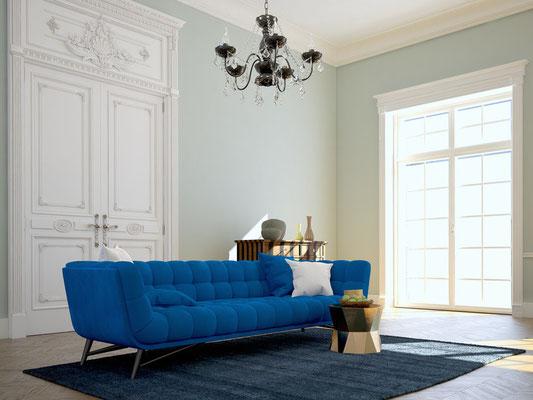 Moderner barocker Wohnstil in einer Altbauwohnung. Foto: © 2mmedia/fotolia.com