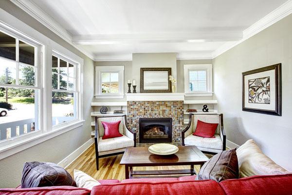 Gemütlicher englischer Wohnstil im Wohnzimmer. Klassisch, elegant. Foto: © Iriana Shiyan/Fotolia.com