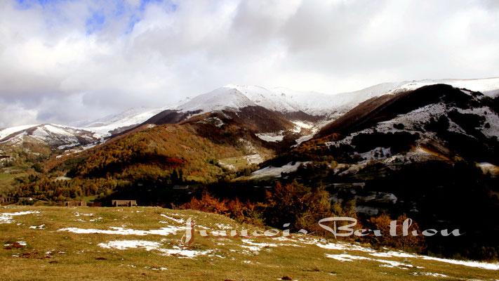 Le plomb du cantal sous la neige