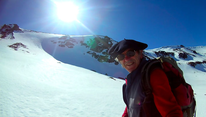 Cirque de Chamalière, neige tres dure en haut et lourde en bas