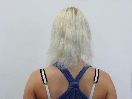 Haare vorher