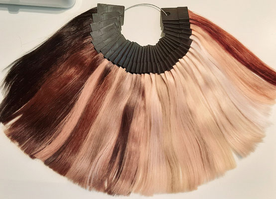 Farbauswahl Haarverlängerung Nanoring Extensions