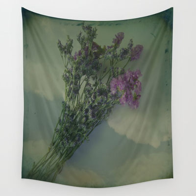 Lilac wall tapestry, Available in three distinct sizes, our Wall Tapestries are made of 100% lightweight polyester with hand-sewn finished edges. Featuring vivid colors and crisp lines.