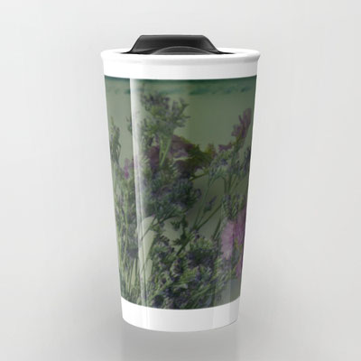 Take your coffee to go with a personalized ceramic travel mug. Double-walled with a press-in suction lid, the two-piece (12oz) design ensures long lasting temperatures while minimizing the risk of spillage from kitchen to car to office.