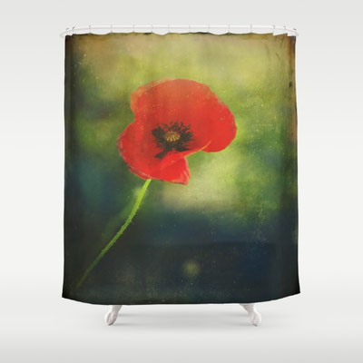 Made from 100% polyester our designer shower curtains are printed in the USA and feature a 12 button-hole top for simple hanging. The easy care material allows for machine wash and dry maintenance.