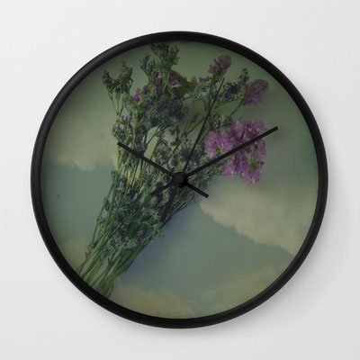 """Available in natural wood, black or white frames, our 10"""" diameter unique Wall Clocks feature a high-impact plexiglass crystal face and a backside hook for easy hanging. Choose black or white hands to match your wall clock frame and art design choice."""