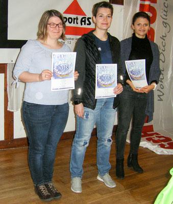 Lisa Diskowski, Stefanie Kibscholl und Shanna Künstler