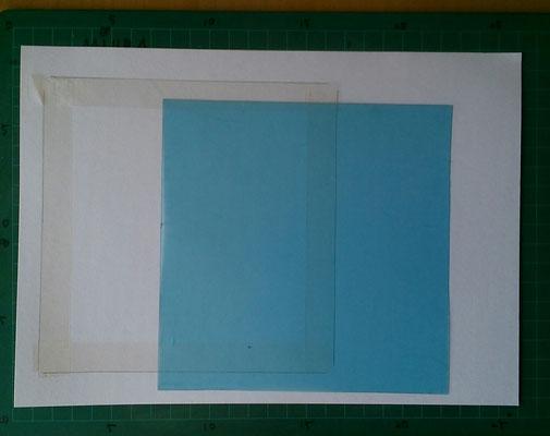 パステル和アート、15センチ角の用紙作り方