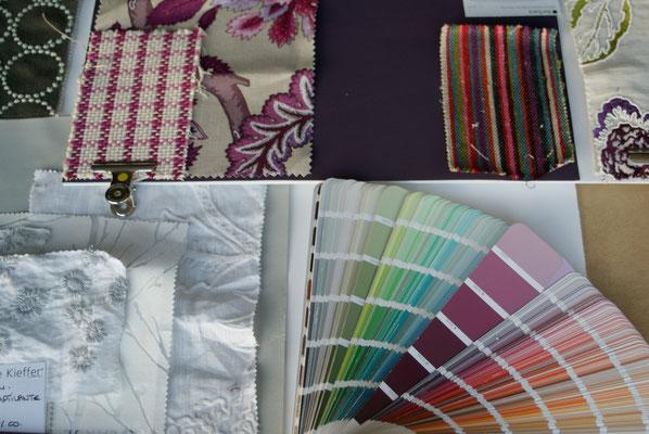 penser aux couleurs, intégrer les textiles qui intimisent