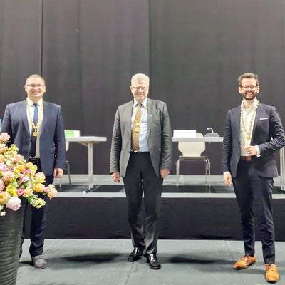 OB Thomas Ebersberger (Mitte) mit seinen beiden Stellvertretern Andreas Zippel (rechts) und Stefan Schuh (linlks)