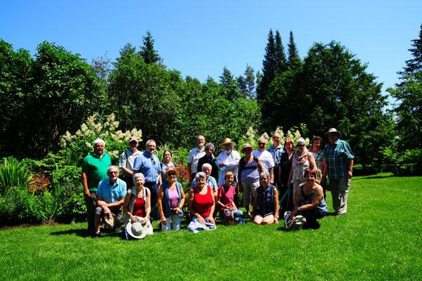 Participants au ''Voyage horticole 2019'' de la SHEP.  (Photo: Rolland Hamel)