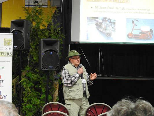 Rolland Hamel, co-animateur.