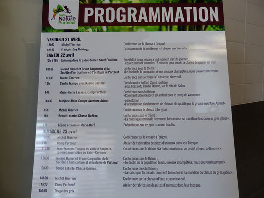 La programmation du 3e Salon Nature Portneuf.