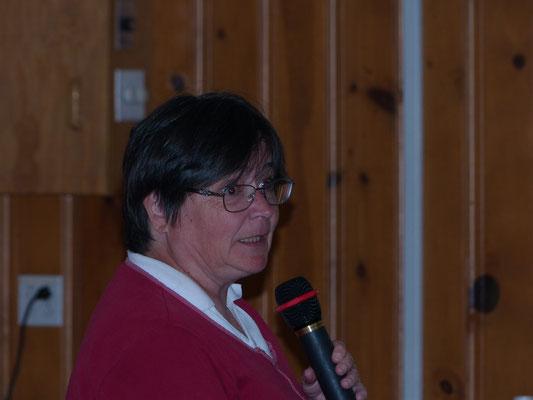 Madame Suzanne Hardy, la conférencière sur les ''Plantes indigènes''.