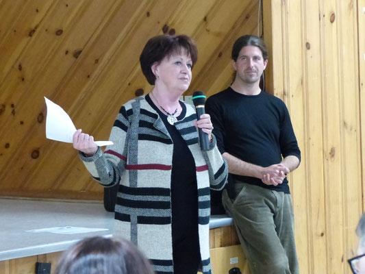 Madame Diane Godin, membre du comité culture et embellissement de la ville de Portneuf.