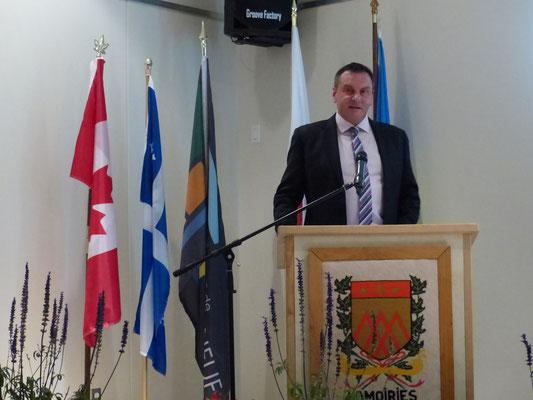 M. Vincent Caron, député de Portneuf à l'Assemblée nationale.