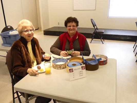 Mesdames Marie Hébert et Huguette Gignac, bénévoles de la SHEP