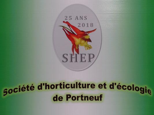 La SHEP souligne son 25e anniversaire lors de la ''Fête des fleurs 2018 de la MRC de Portneuf''. – à Cap-Santé.