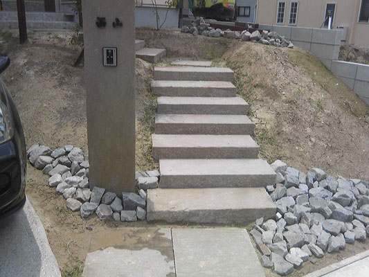 門柱・階段工事