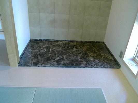 床の間大理石工事