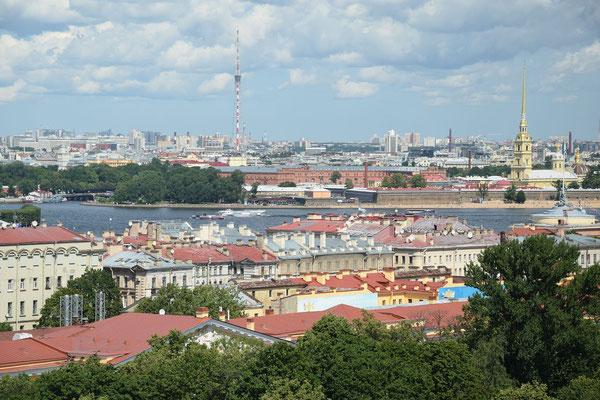 von der Isaakskathedrale Blick auf die Stadt