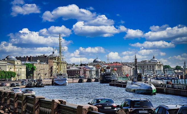 U Boot in Sankt Petersburg