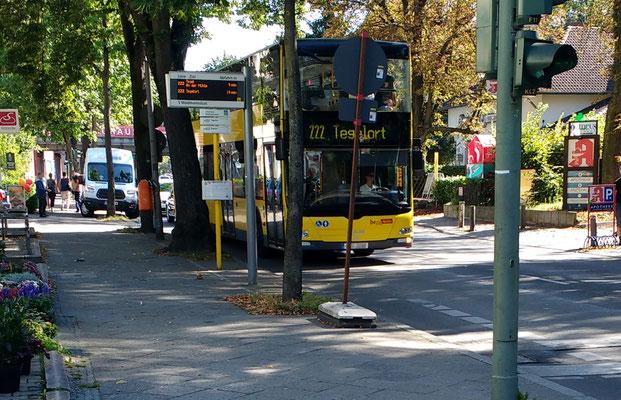 Pension Hubertus Berlin Bushaltestelle