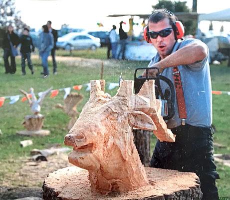 démonstration sculpture sur bois