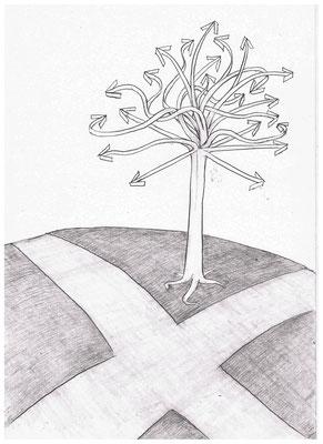 Wegweisender Baum