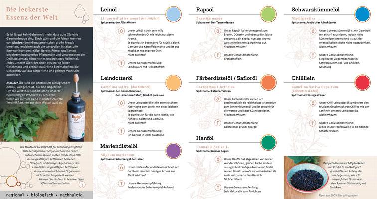 MaGoer | Prospekt Innenseite | 8 Seiten, Fensterfalz | Corporate Design