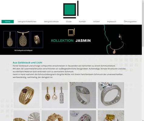 deingold | website | jimdo Baukasten