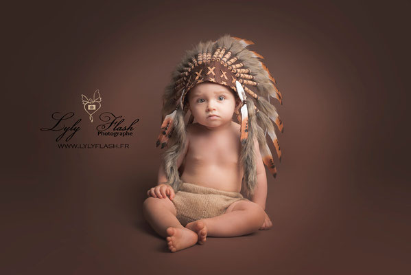 photographe bébé indien style art studio photo professionnel toulon