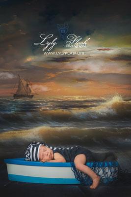Photographe naissance bébé  bord de mer