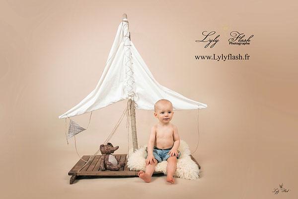 photographe bébé Bateau anniversaire Toulon