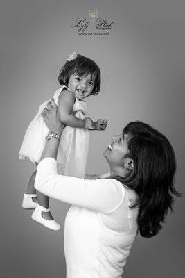 photo de famille avec bébé