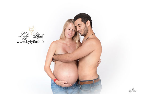 photo couple grossesse par photographe de nice