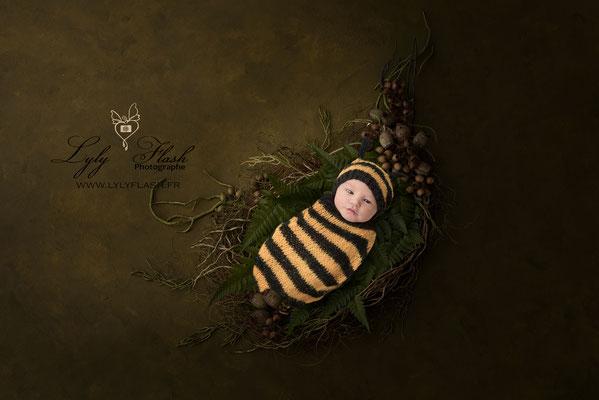 Photographe naissance bébé  nature