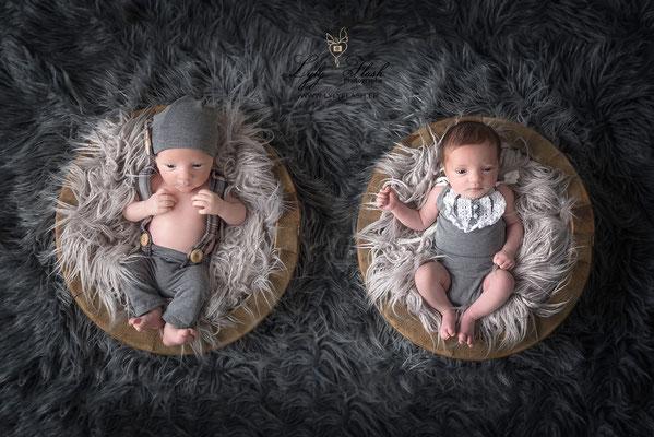photographe nouveau-né , séance bébé jumeaux