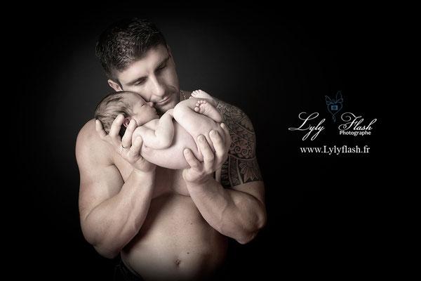 photographe var bébé et papa